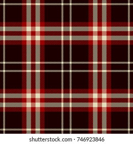 Tartan Seamless Pattern Background. Red, Black  and  White  Plaid, Tartan Flannel Shirt Patterns. Trendy Tiles Vector Illustration for Wallpapers