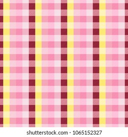Tartan seamless pattern. Checkered pattern. Design geometric stripes for background image or clothing fabric prints, home textile, wallpaper, wrap etc. Plaid texture vector.