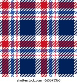 Tartan seamless pattern. Plaid texture vector.