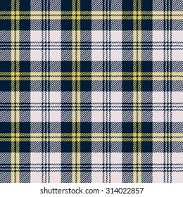 Tartan seamless pattern. Three colors (blue-yellow-white).