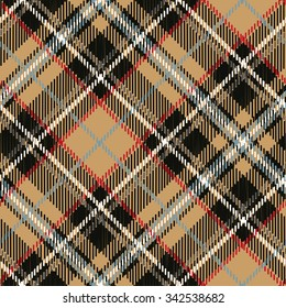 Tartan,plaid Seamless pattern,diagonal background. Wallpaper,wrap,paper,textile.Retro Tartan.Fashion illustration,vector.Christmas,new year  decor.Traditional Beige scottish ornament.Fashion pattern