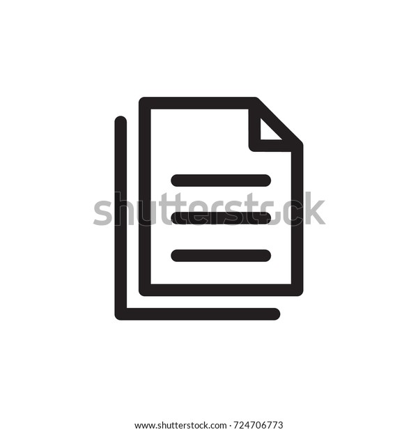 task icon vector. task outline style design