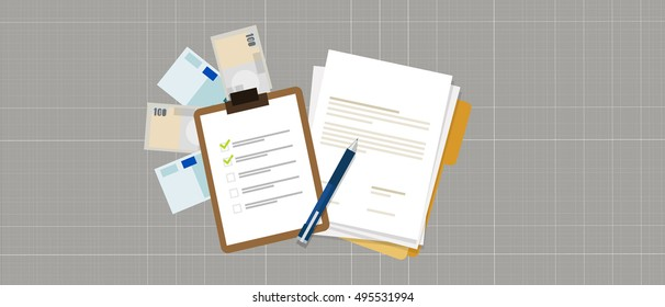 task list preparation contract document money loan credit