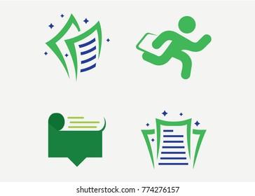 Task Paper Logo Set Template Design Vector, Emblem, Design Concept, Creative Symbol, Icon