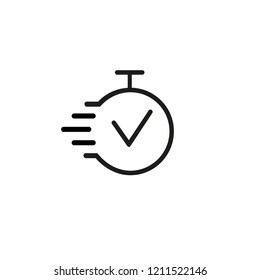 Task time line icon. Deadline, best time, completion. Fast time concept. Vector illustration can be used for topics like business, management, competition