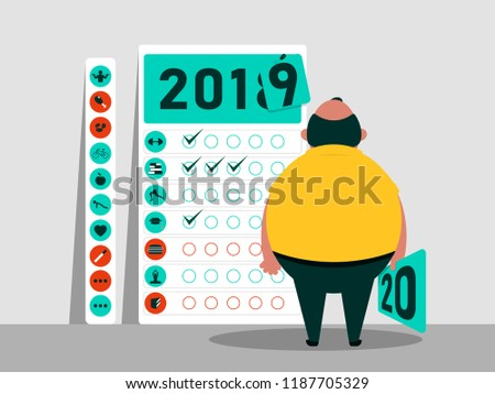 Calendario 2020 Maxim.Tasks Plan 2019 2020 Calendar Habits Vector De Stock Libre