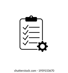 Tasks. Vector icon. Clipboard - vector icon. Clipboard icon. Task done. Signed approved document icon. Project completed. Check Mark sign. Document setup. Settings system file. Survey. Extra options.