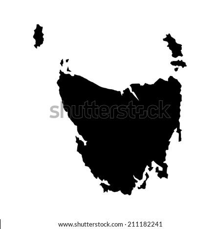 Australian State Map.Tasmania Australian State Vector Map High Stock Vector Royalty Free