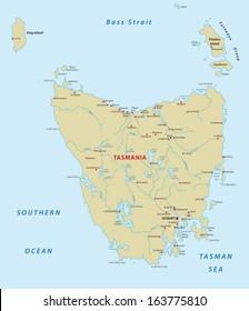 Map Of Australia And Tasmania.Tasmania Map Images Stock Photos Vectors Shutterstock