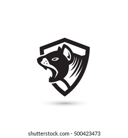 Tasmanian devil symbol - vector illustration