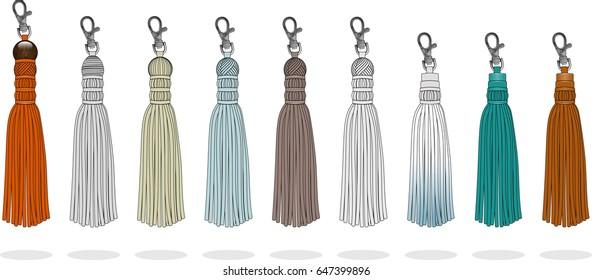 Tassel handbag accessories illustration