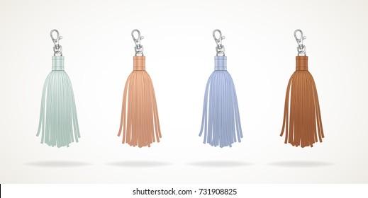 Tassel illustration template accessories earrings zipper pull