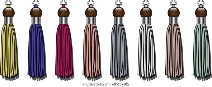 tassel zipper puller illustration