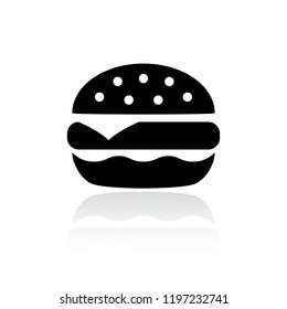 Tasty burger vector icon illustration isolated on white background