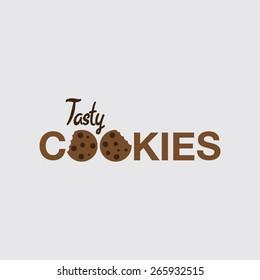 cookies logo design images stock photos vectors shutterstock https www shutterstock com image vector tasty cookies logo concept 265932515