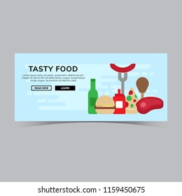 Tasty Food/Barbecue Web Banner Template
