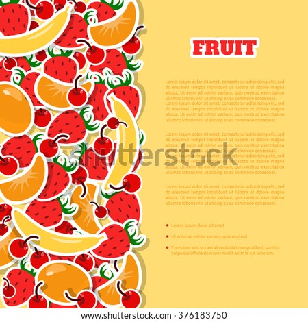 tasty fruit background dessert menu cover stock vector royalty free