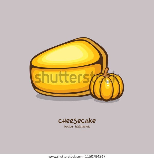 Tasty Pumpkin Cheesecake Vector Illustration Traditional Stock Vector Royalty Free 1150784267