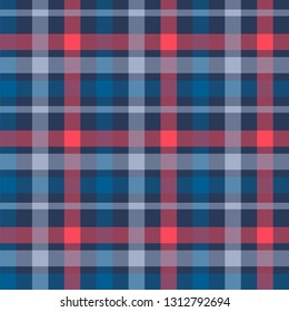 Tattersall material color seamless vector pattern
