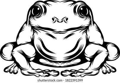 The tattoo animation of the big frog with his full body
