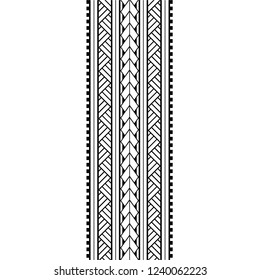 tattoo arm band, polynesian tattoo pattern maori, samoa ornament border, ethic tribal template