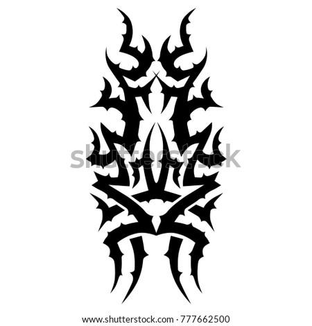 Tattoo Art Designs Ideas Tattoos Girls Stock Vector Royalty Free