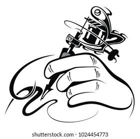 Tattoo artist. Tattoo machine