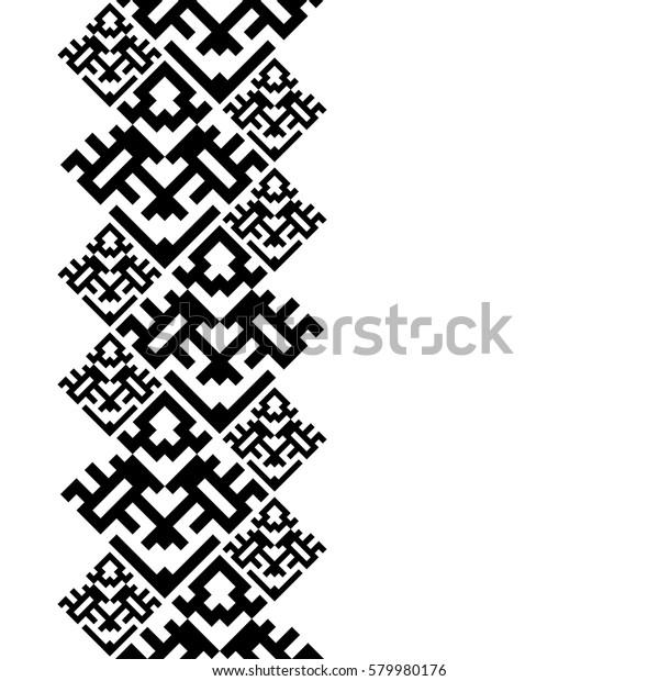 Tattoo Belt Totem Pole Tribal Card Stock Vector Royalty Free 579980176