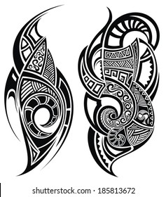 a4a3a8ba8 Maori Tattoo Images, Stock Photos & Vectors | Shutterstock