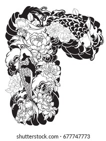 Japanese Chest Tattoo Stock Illustrations Images Vectors