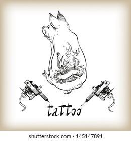Tattoo design vector illustration