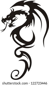 Tattoo Dragon Vector Illustration