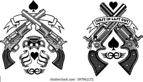 tattoo guns and revolver