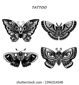 91ae09706 Butterfly Tattoo Images, Stock Photos & Vectors | Shutterstock