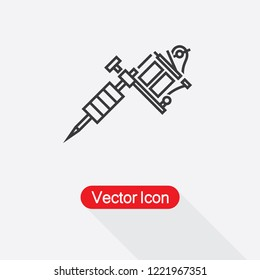 Tattoo Machine Icon Vector Illustration Eps10