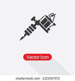 Tattoo Machine Icon Vector Illustration Eps10