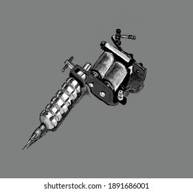 tattoo machine illustrations are ideal for tattoo designs