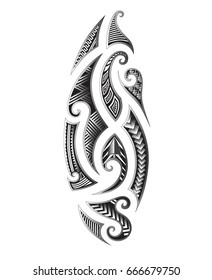 tattoo maori tribal shape design, sleeve art samoan vector, polynesian tattoo pattern, vector art ornament drawings maori culture