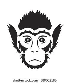 Tattoo monkey isolated
