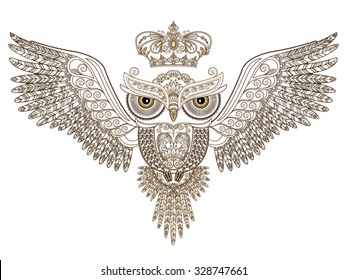 Owl Vector And Open Wings Images Stock Photos Vectors Shutterstock