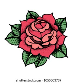Rose Tattoo Images, Stock Photos & Vectors | Shutterstock