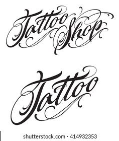 Tattoo Shop Lettering