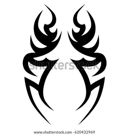 Tattoo Sketch Tribal Vector Designs Simple Stock Vector Royalty