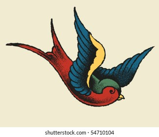 Tattoo Style Swallow
