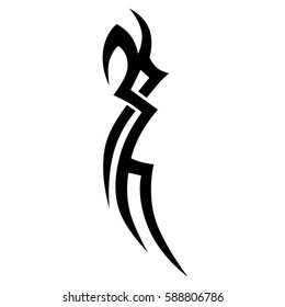 tattoo tribal arm vector, sleeve design pattern maori, template, sketch for hand and shoulder, chest art deco black tribal celtic design isolated element
