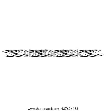 Tattoo Tribal Band Design Vector Simple Vector De Stock Libre De