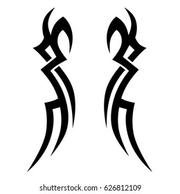 tattoo tribal maori, tribal symmetric pattern elements for tattoo men right and left hand and shoulders, art deco idea tattoos design body