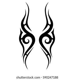 tattoo tribal, pattern art design vector