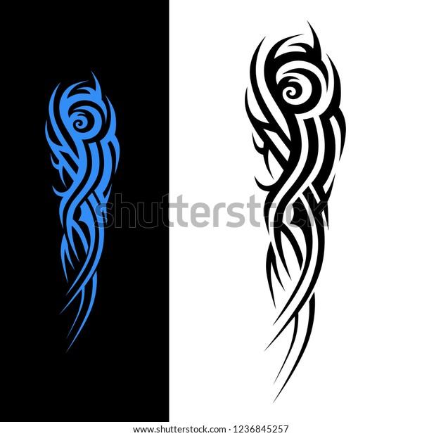 Tattoo Tribal Sleeve Design Vector Art Stock Vector Royalty Free