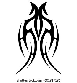 Tattoo tribal vector celtic designs sketch. Simple logo,  isolated element for ideas decorating chest women, men and girls arm, leg and other body parts. Abstract illustration.